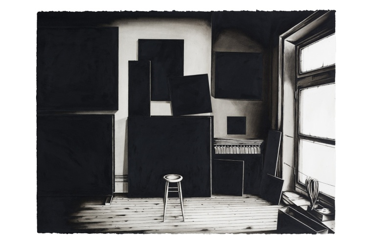 Luiz Mauro- Atelier Ad Reinhardt nº 1, 2015