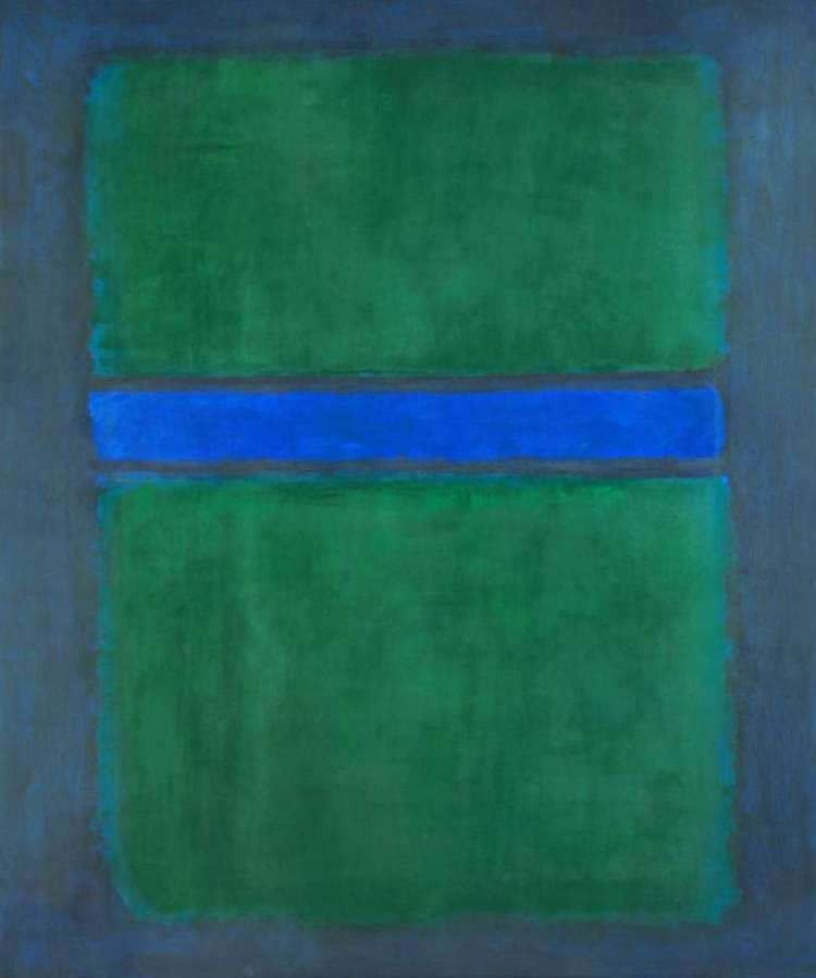 Mark Rothko- A Retrospective at the Museum of Fine Arts, Houston is this untitled canvas from 1957 (oil on canvas, National Gallery of Art, Washington, Gift of The Mark Rothko Foundat