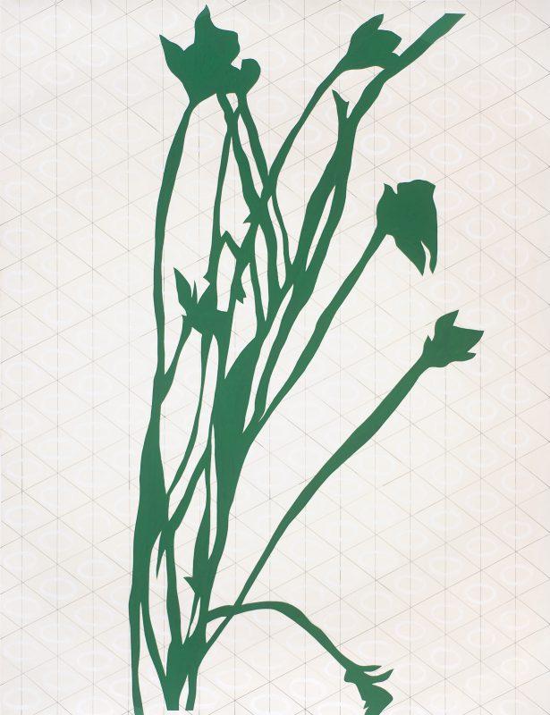 Feuiller, 2016, Frédéric Lucien, acrylique sur papier, découpage, 187 x 141-cm